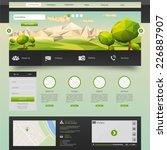 modern eco website template... | Shutterstock .eps vector #226887907