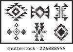 grunge effect navajo   aztec... | Shutterstock .eps vector #226888999