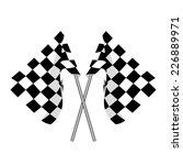 start flag  checkered flag ... | Shutterstock .eps vector #226889971