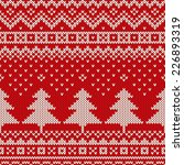 winter holiday pattern on the... | Shutterstock .eps vector #226893319