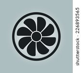 exhaust fan icon. ventilator...