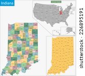 map of indiana state designed... | Shutterstock .eps vector #226895191