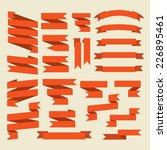 orange ribbons set isolated on... | Shutterstock . vector #226895461