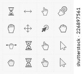 pixel cursors icons on white... | Shutterstock .eps vector #226897561