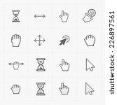 pixel cursors icons on white... | Shutterstock .eps vector #226897561