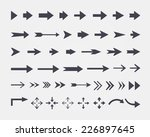 set of different  arrows... | Shutterstock . vector #226897645