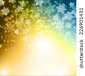 winter snowflakes background | Shutterstock .eps vector #226901431