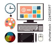 set of colorful graphic  web... | Shutterstock . vector #226903597