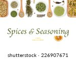 spices and seasoning on white... | Shutterstock . vector #226907671