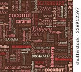 bakery words  tags. seamless... | Shutterstock .eps vector #226912597