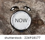 now  time | Shutterstock . vector #226918177