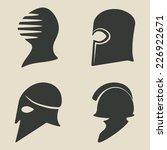 helmet icon set   vector... | Shutterstock .eps vector #226922671