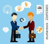 happy business man make...   Shutterstock . vector #226923601