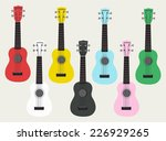 ukulele hawaii colorful guitar | Shutterstock .eps vector #226929265