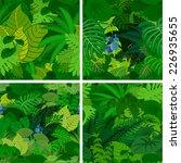 set of vector amazon jungle... | Shutterstock .eps vector #226935655
