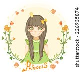 princess girl in the floral... | Shutterstock .eps vector #226935874