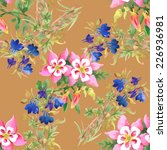 floral colorful spring flowers... | Shutterstock .eps vector #226936981