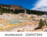 Bumpass hell at lassen volcanic national park, California