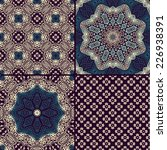 set of seamless ethnic patterns ... | Shutterstock .eps vector #226938391