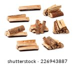 pile of firewood isolated on a... | Shutterstock . vector #226943887