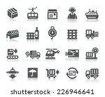 logistics and transport icons | Shutterstock .eps vector #226946641