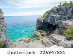 bruce peninsula trail  | Shutterstock . vector #226947835