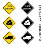 vector truck road sign set in... | Shutterstock .eps vector #226947895