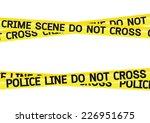 crime scene danger tapes...   Shutterstock .eps vector #226951675