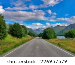 long stretch of flat highway in ... | Shutterstock . vector #226957579