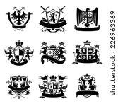 heraldic coat of arms... | Shutterstock .eps vector #226963369