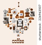 love coffee concept with... | Shutterstock .eps vector #226963507