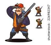 hunter. cartoon character | Shutterstock .eps vector #226982347