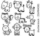 vector illustration of animal... | Shutterstock .eps vector #226984381