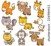 vector illustration of animal... | Shutterstock .eps vector #226984411