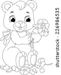 bear coloring page | Shutterstock .eps vector #226986535