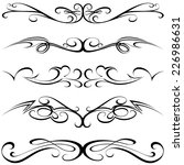 calligraphic elements   black... | Shutterstock .eps vector #226986631