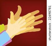 family hands. cmyk mode. global ... | Shutterstock .eps vector #22698781