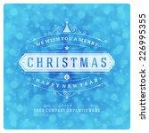 christmas greeting card light... | Shutterstock .eps vector #226995355