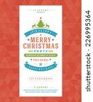christmas party invitation... | Shutterstock .eps vector #226995364