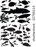 Fish Collection Silhouette  ...