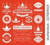 christmas decoration vector... | Shutterstock .eps vector #227005015