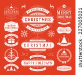 christmas decoration vector... | Shutterstock .eps vector #227005021