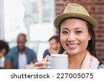 close up of casual woman... | Shutterstock . vector #227005075