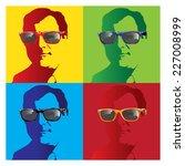 Man Portrait With Sunglasses...