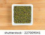 Green Mung Beans In White Bowl...