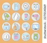 set of household appliances... | Shutterstock .eps vector #227014069