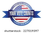 your vote counts seal stamp... | Shutterstock .eps vector #227019397