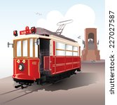 traditional istanbul tram with... | Shutterstock .eps vector #227027587