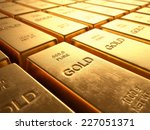 Gold Bars 1000 Grams. Concept...