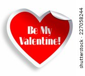 be my valentine red heart... | Shutterstock . vector #227058244